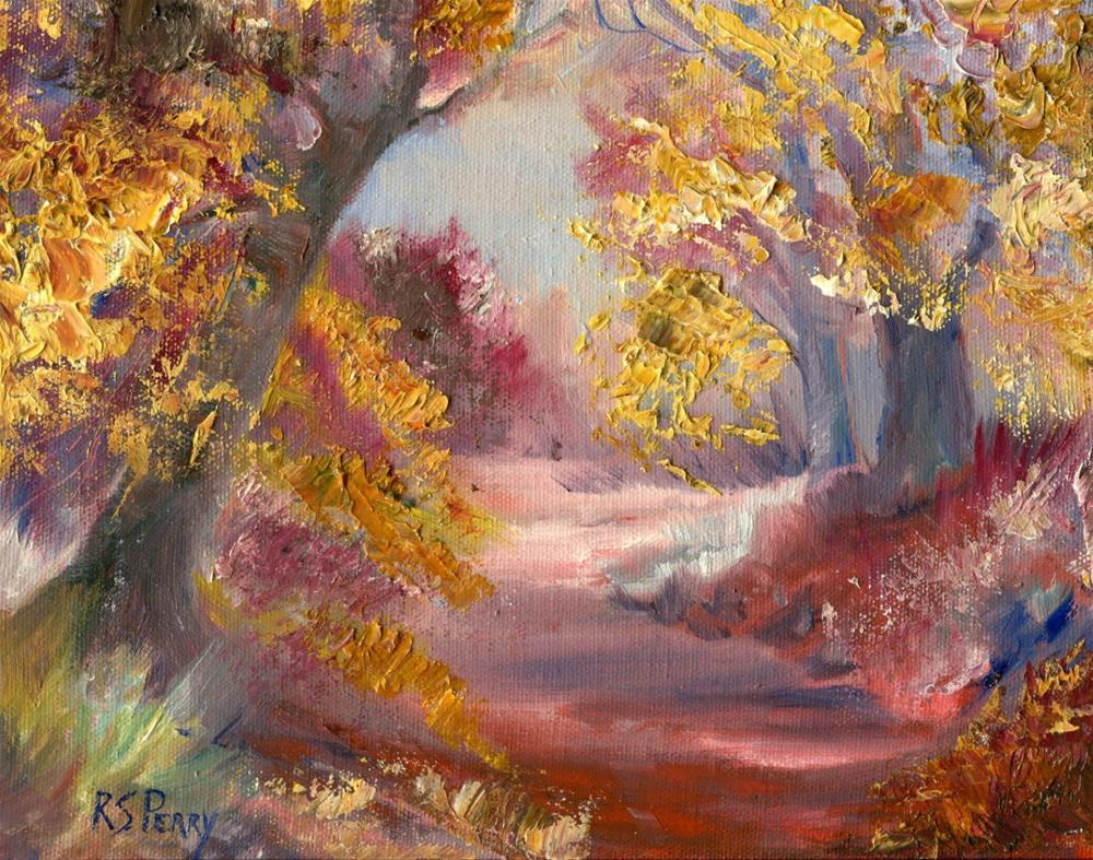 """""""Colors of Fall """" original fine art by R. S. Perry"""