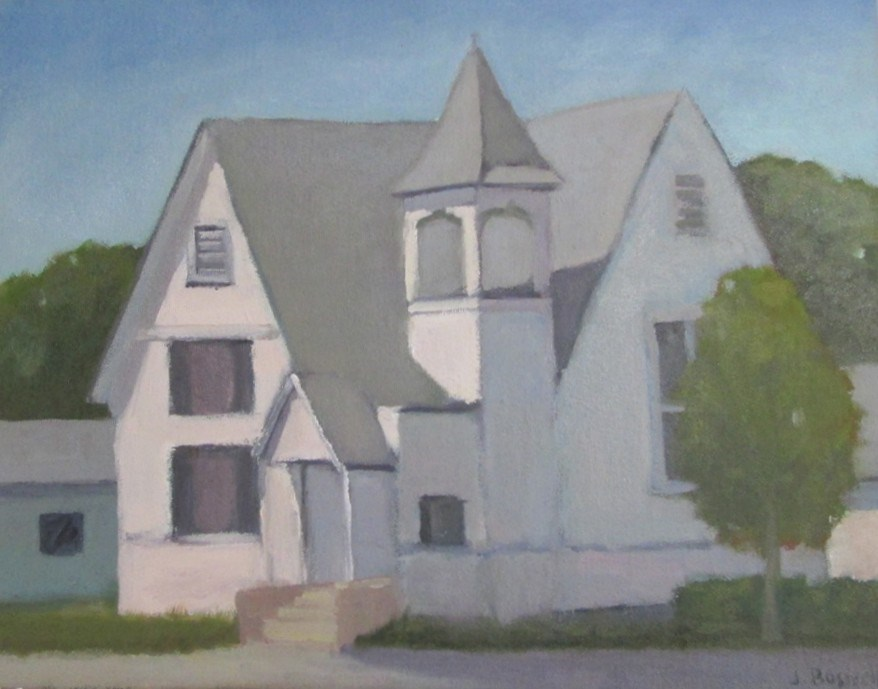 """Santa Paula Church"" original fine art by Jennifer Boswell"