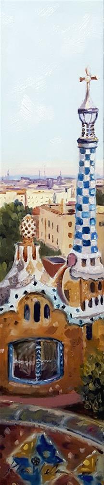 """""""Park Güell, Barcelona"""" original fine art by Karen Weber"""