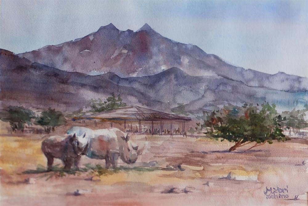 """Al Ain Zoo at 1pm"" original fine art by Midori Yoshino"