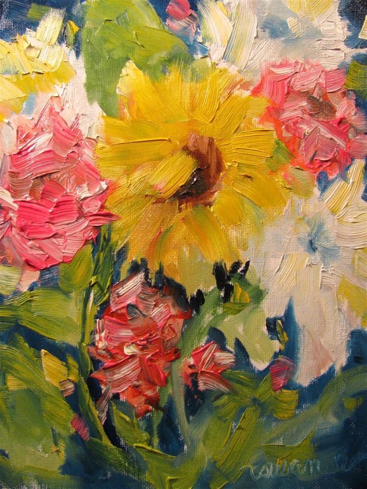 """""""Impasto Posy"""" original fine art by Susan Elizabeth Jones"""