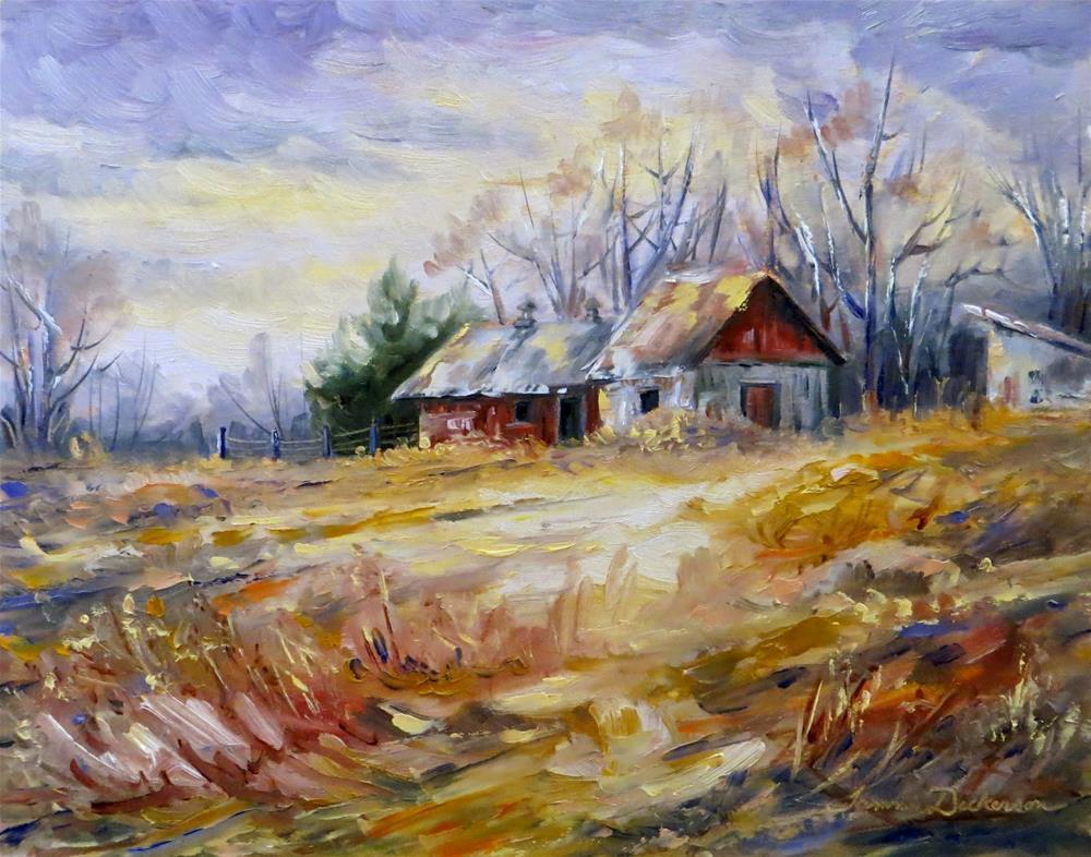"""Milk Barn in January"" original fine art by Tammie Dickerson"
