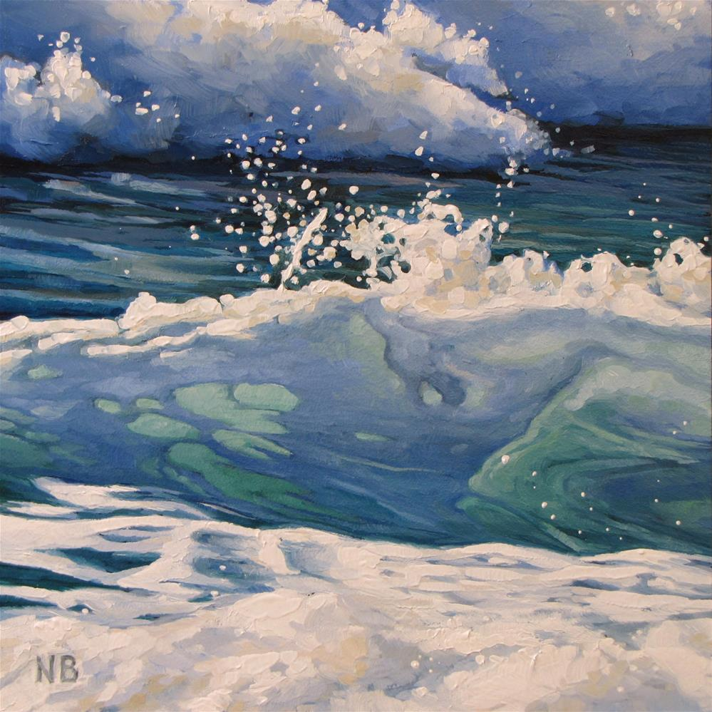 """Splish Splash"" original fine art by Nora Bergman"