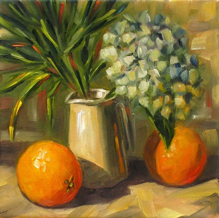 """Still Life With Hydrangea"" original fine art by Irina Beskina"