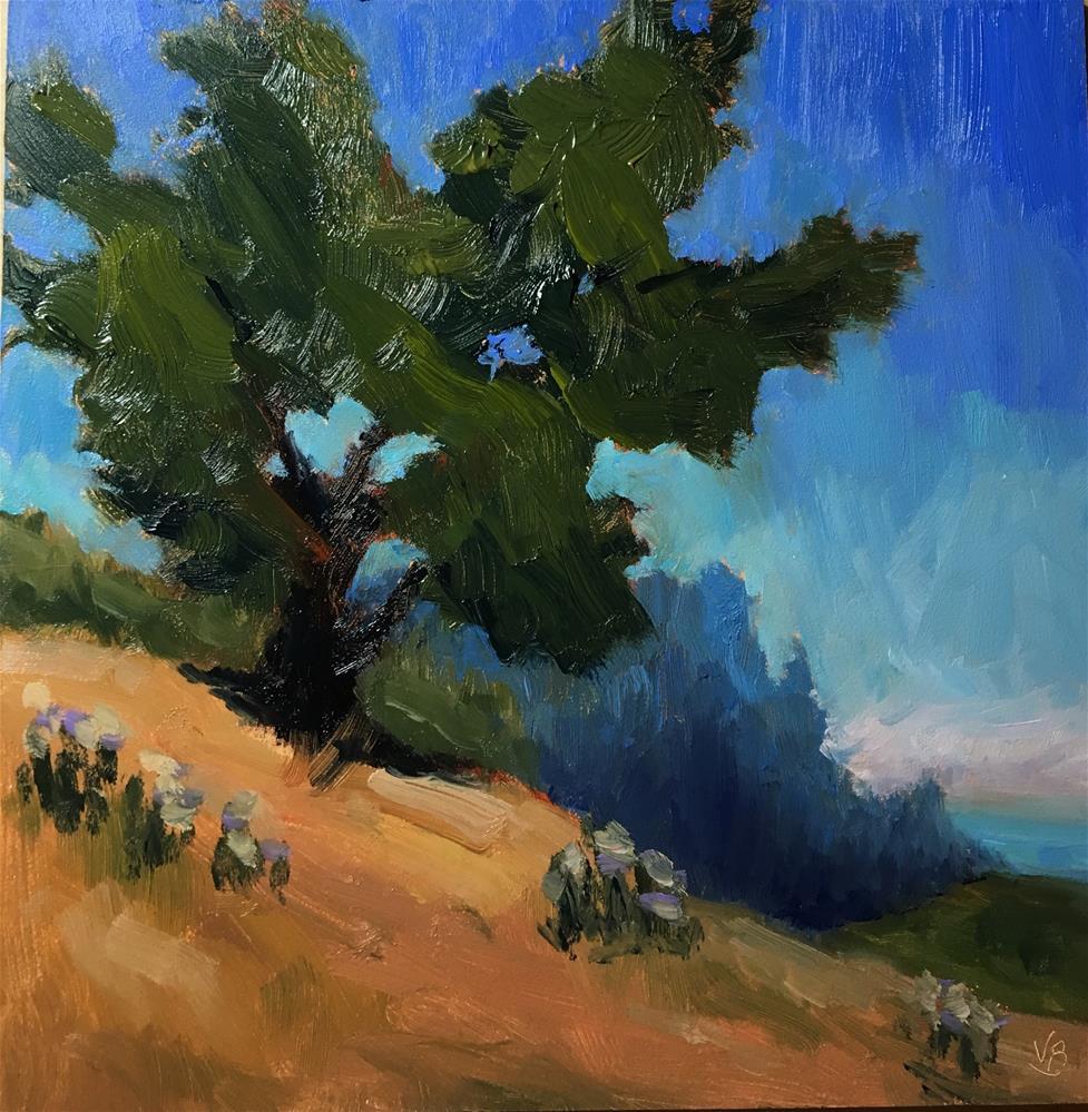 """""""Coastal Tree"""" original fine art by Victoria  Biedron"""
