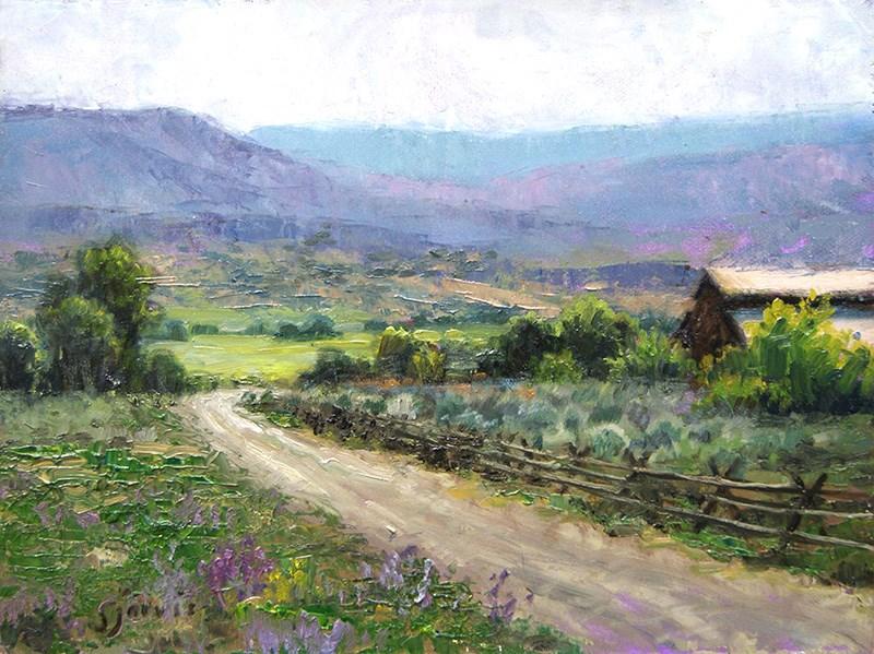 """Pathway to Summer"" original fine art by Susan N Jarvis"