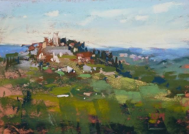 """A Week in Croatia Workshop Report 4: The Towns"" original fine art by Karen Margulis"