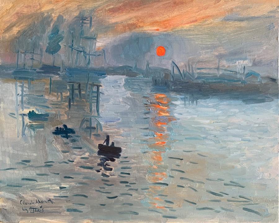 """Impression, Sunrise after Monet"" original fine art by Andrea Jeris"