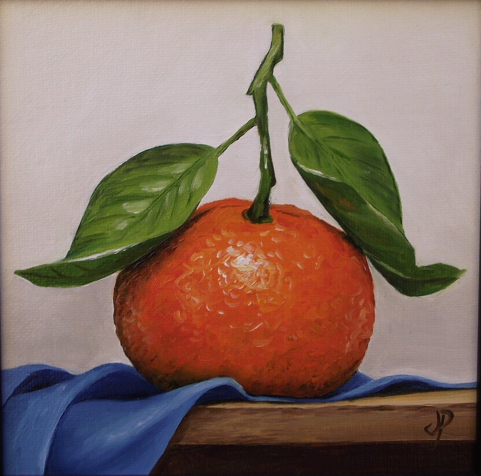 """Clementine Framed"" original fine art by Jane Palmer"