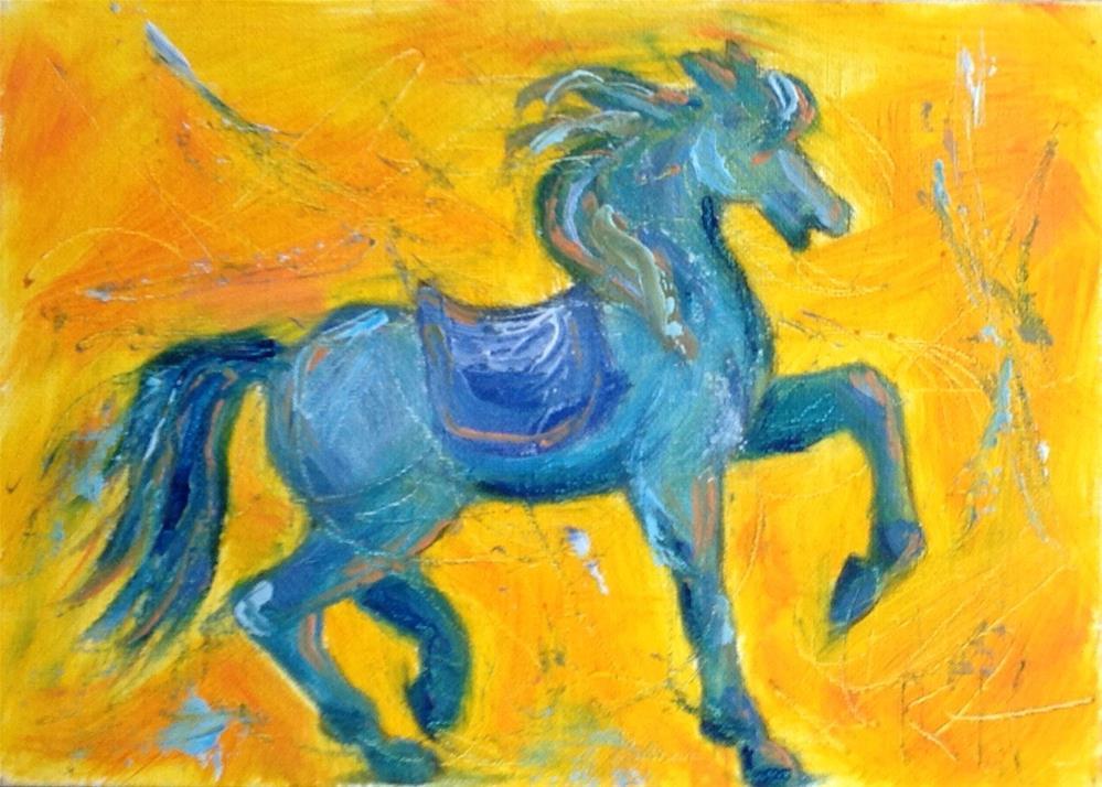 """Carousel #2"" original fine art by Rachel  Holland"