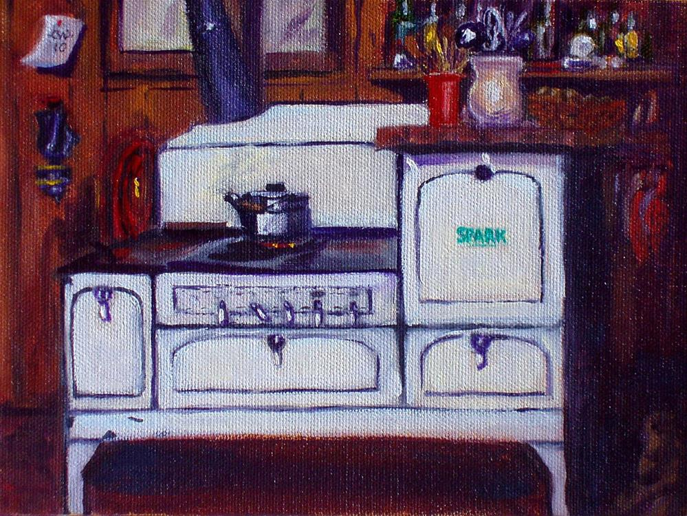 """Antique Spark Stove"" original fine art by Cietha Wilson"