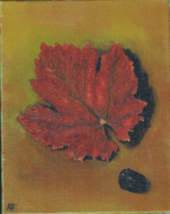 """""""Black Grape"""" original fine art by Karen Stitt"""