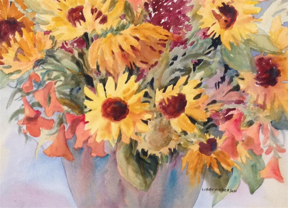 """October's Harvest"" original fine art by Libby Anderson"