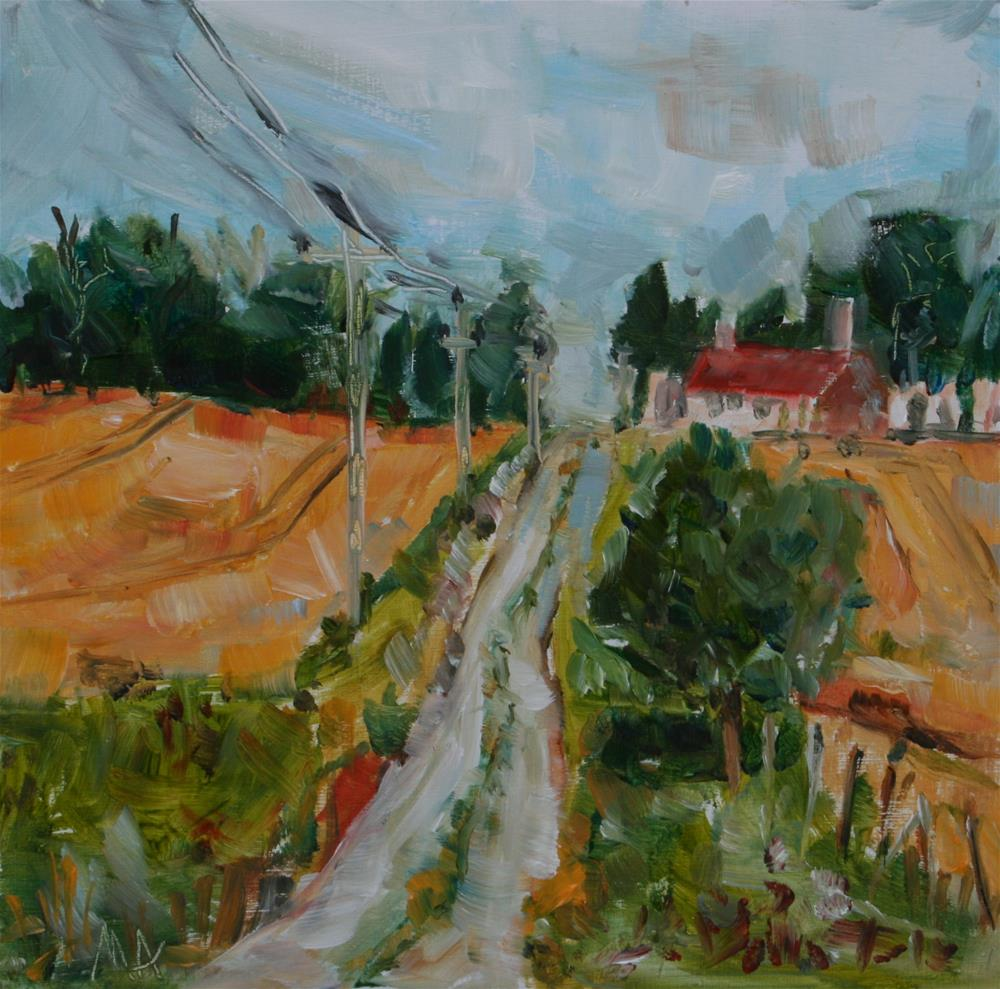 """Kendlimajor - small road right across the art school"" original fine art by Aniko Makay"