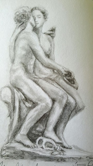 """Atalanta and Meleager study"" original fine art by Tammie Dickerson"
