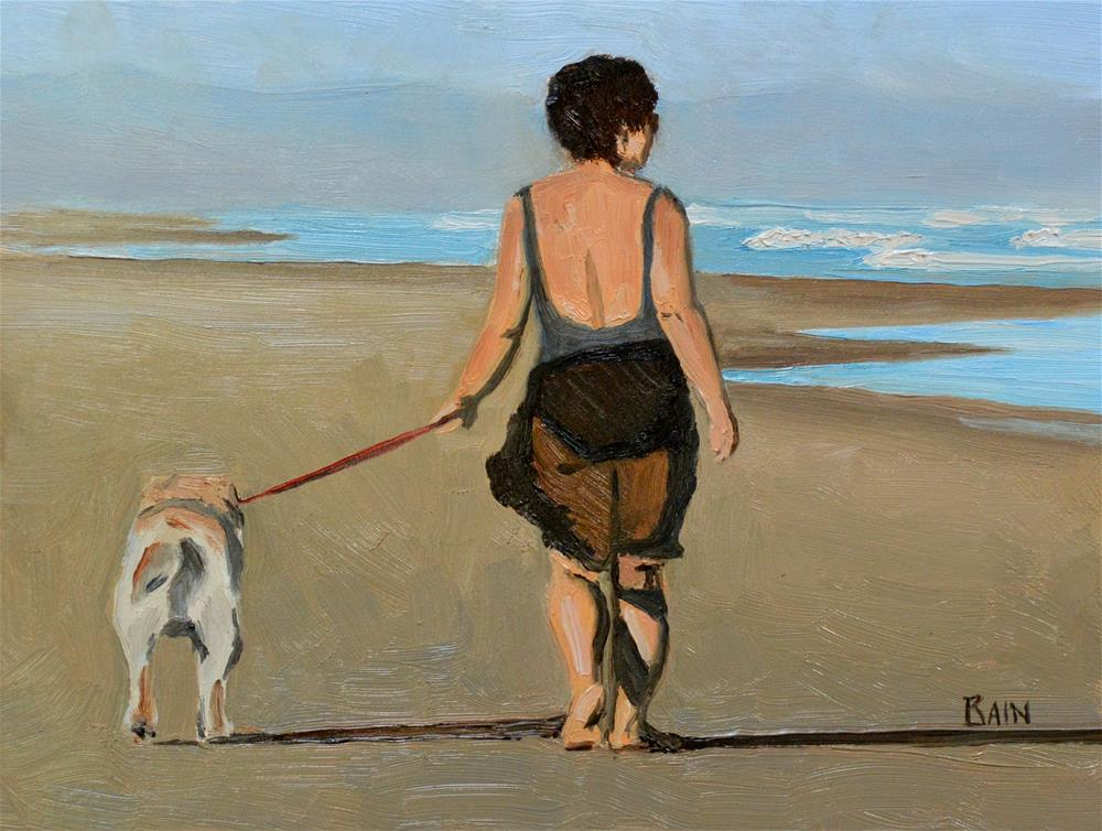 """An Early Walk"" original fine art by Peter Bain"