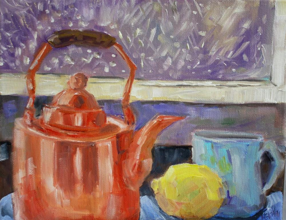 """Copper Challenge"" original fine art by Maggie Flatley"