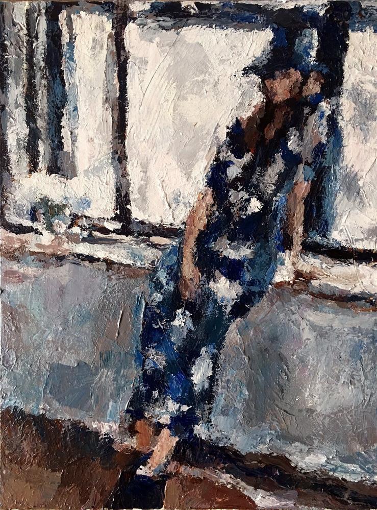 """Dressed in Blue"" original fine art by Nava Judith"