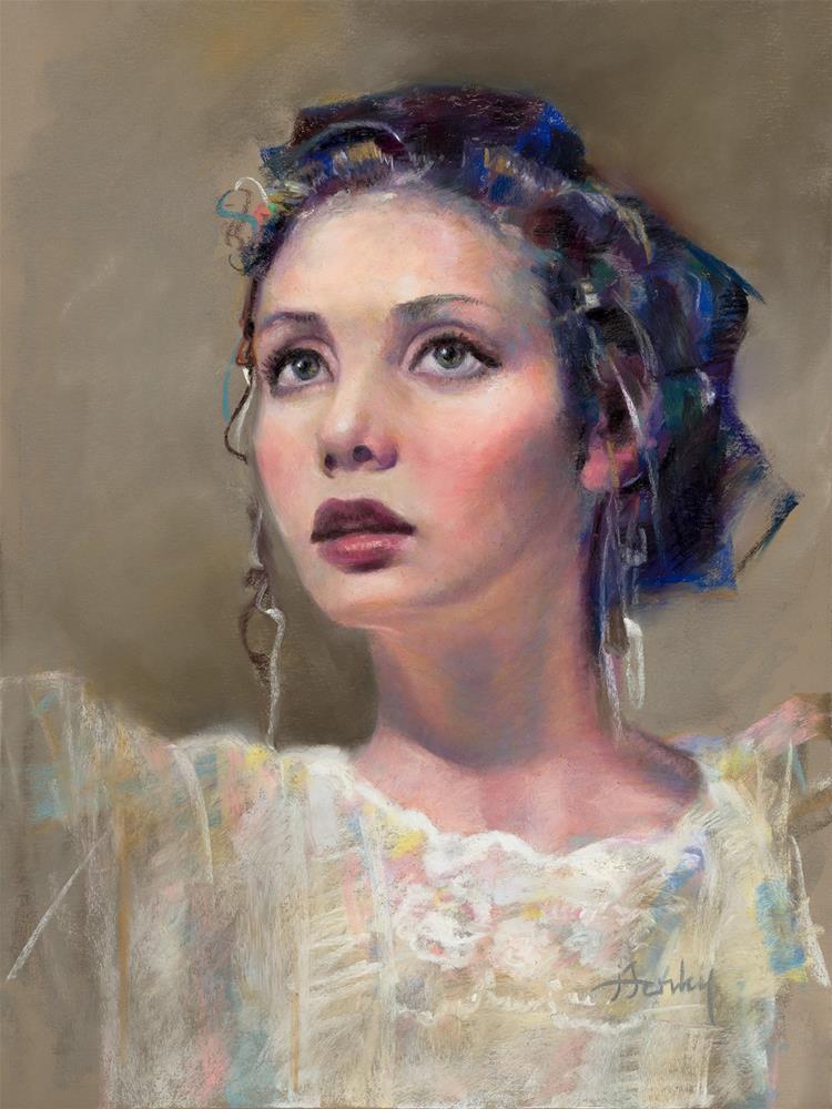 """""""The Model"""" original fine art by Denise Henley"""
