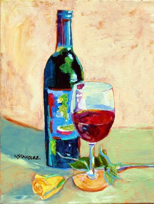 """Wine and Dine 12058"" original fine art by Nancy Standlee"