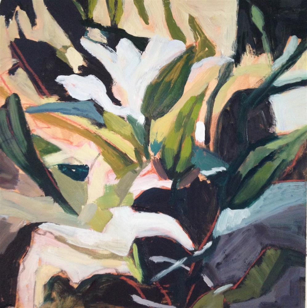 """White Lillies"" original fine art by Pamela Hoffmeister"