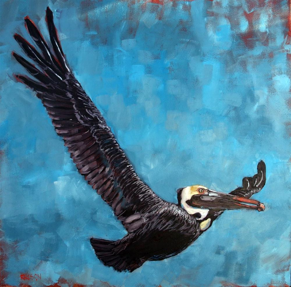 """""""Fly Away Flap Your Wings"""" original fine art by Rick Nilson"""