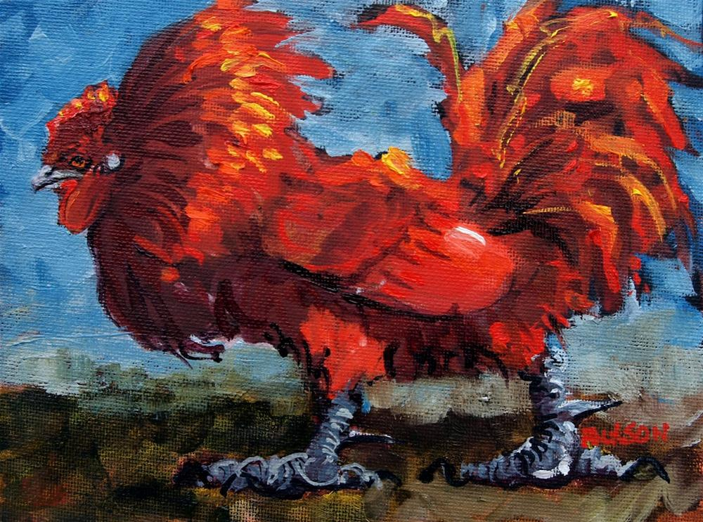 """Rooster Seven"" original fine art by Rick Nilson"