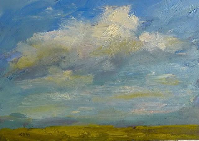 """An Experiment: Oil over Pastel. Does it Work?"" original fine art by Karen Margulis"
