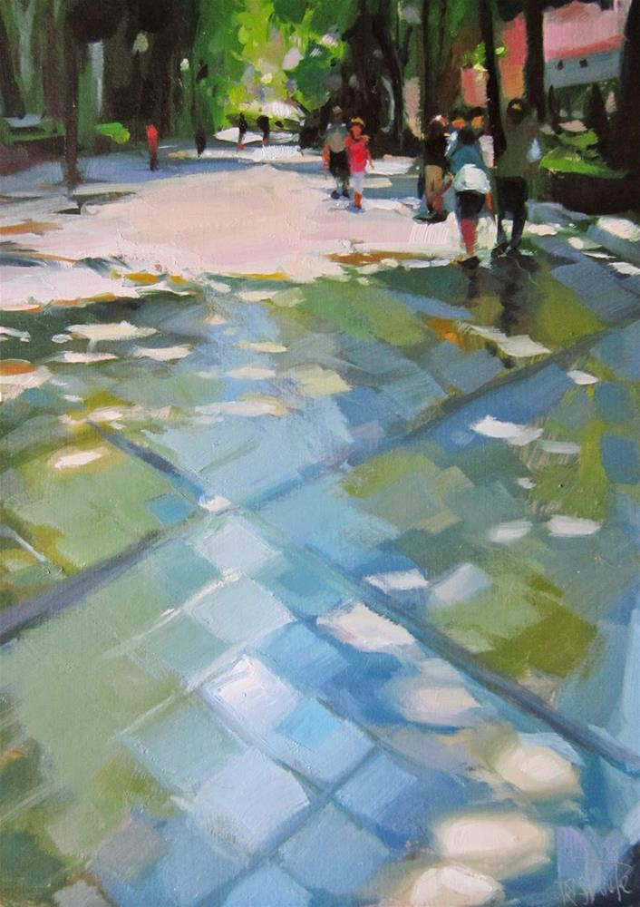 """Walk through the shades"" original fine art by Víctor Tristante"
