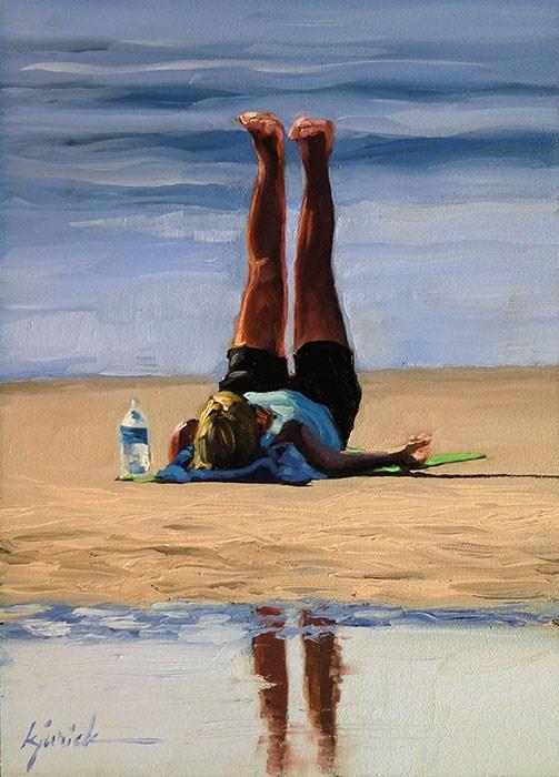"""Yoga"" original fine art by Karin Jurick"