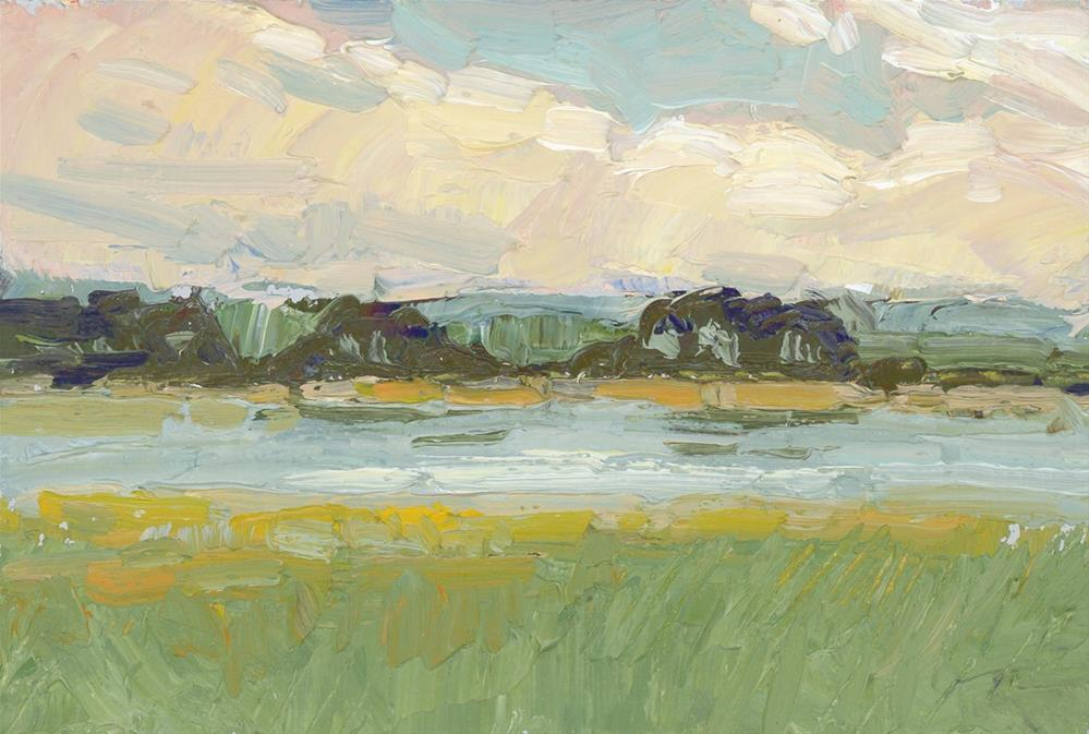 """Lake View"" original fine art by Kath Reilly"