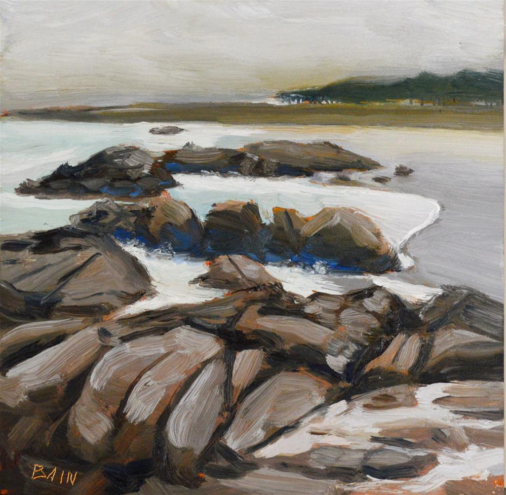 """Monterey Coast no. 1"" original fine art by Peter Bain"