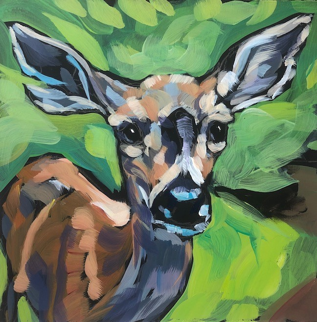 """Speckled Light"" original fine art by Kat Corrigan"