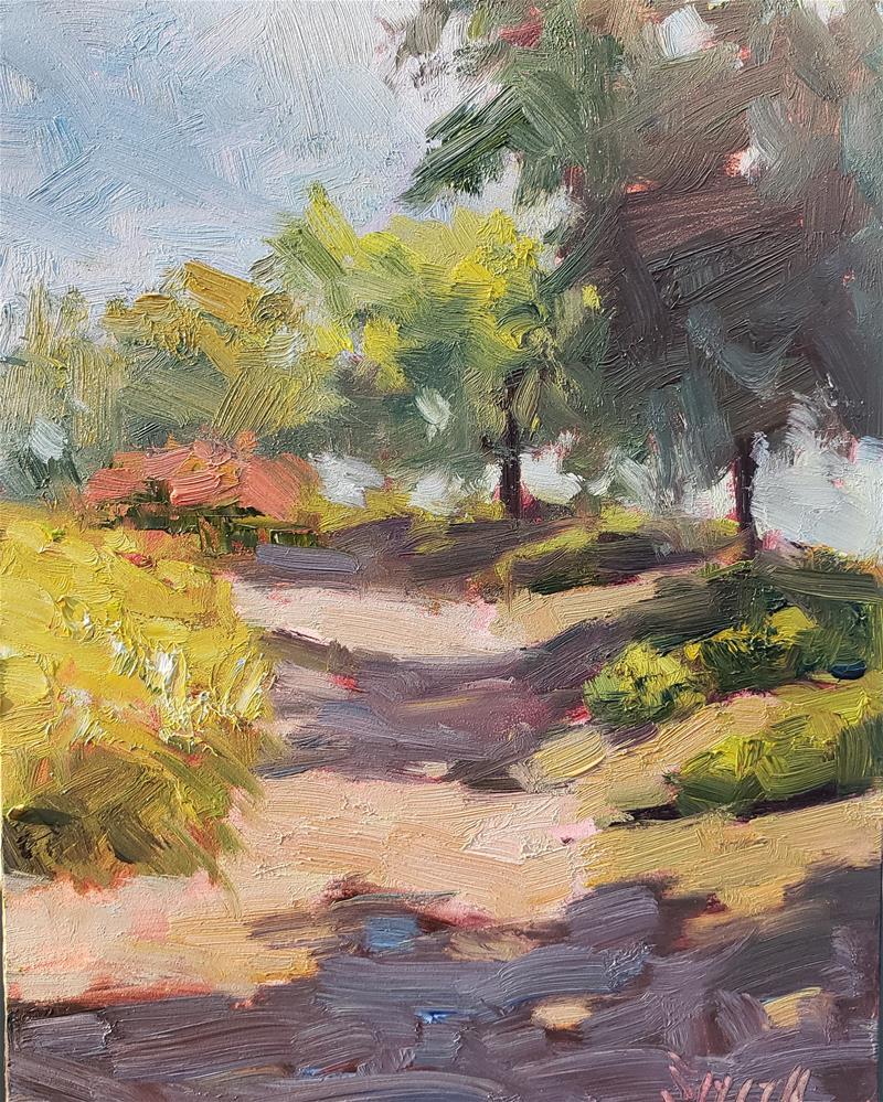 """""""Garden Path"""" original fine art by Barbie Smith"""