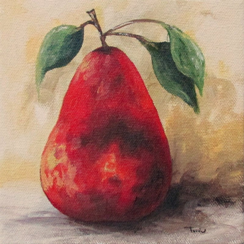 """""""The Red Pear III"""" original fine art by Torrie Smiley"""