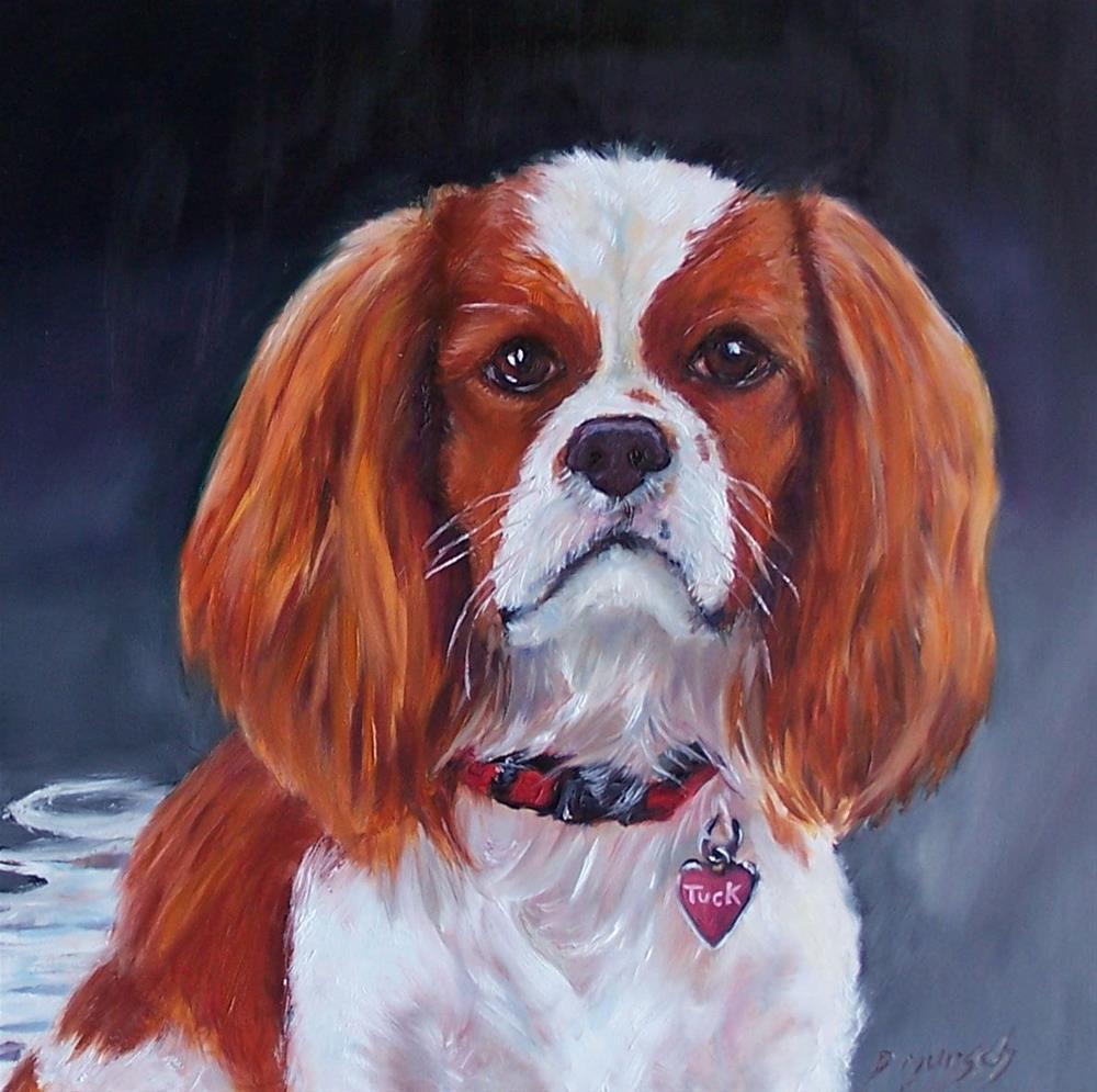 """""""King Charles Cavalier Spaniel Tuck"""" original fine art by Donna Munsch"""