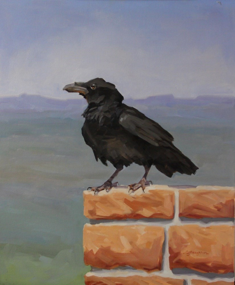 """Series: 'The Ravens of Bryce Canyon-Watching'"" original fine art by C J Roughton"