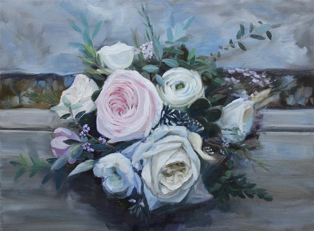 """The Wedding Bouquet"" original fine art by Linda Marino"