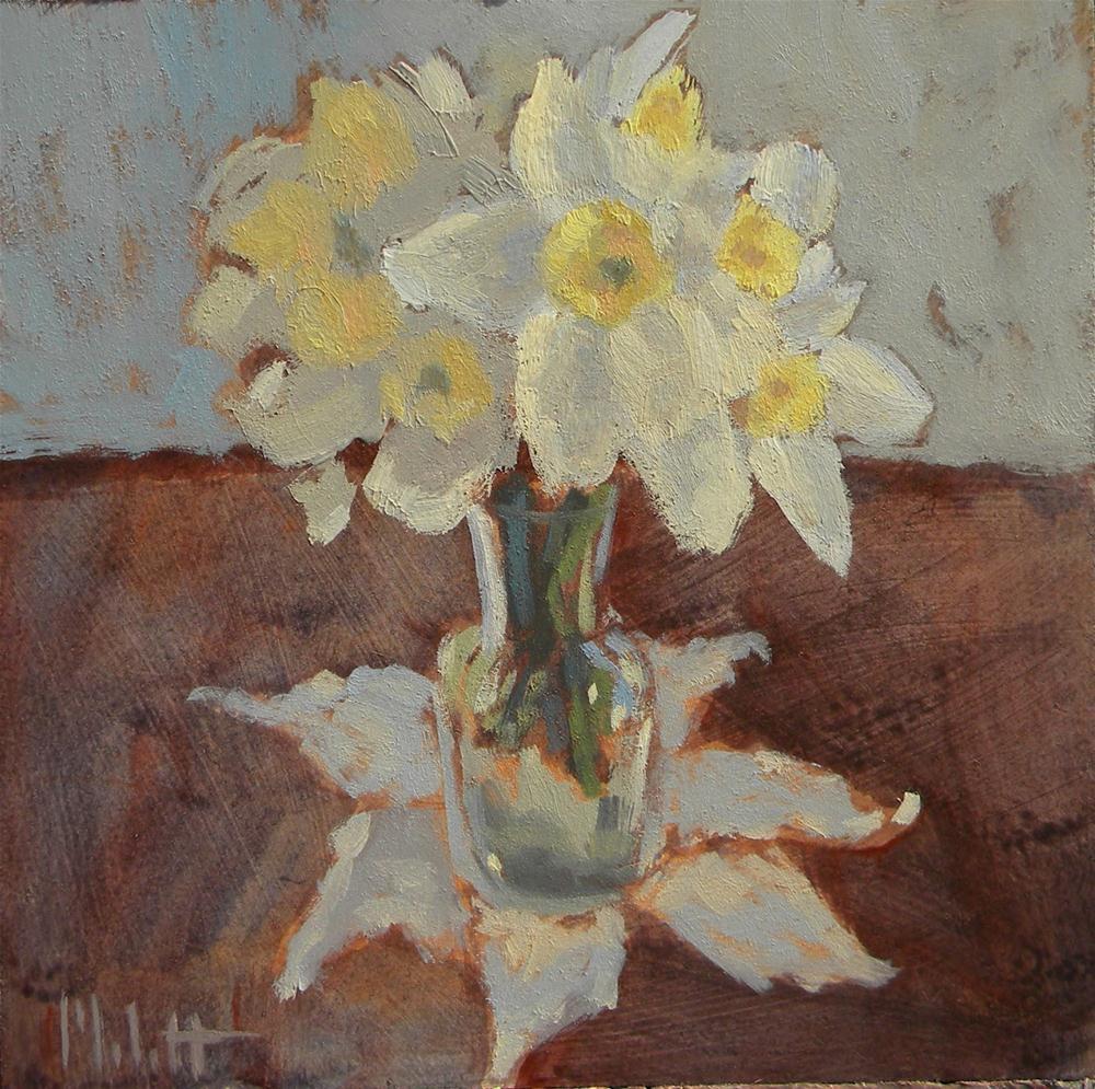 """Spring Bouquet Oil Painting Still Life Floral Daffodils Art"" original fine art by Heidi Malott"
