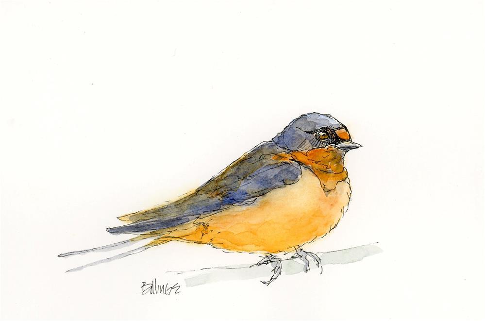 """""""Swallow Study"""" original fine art by Susanne Billings"""