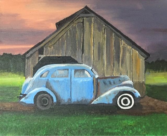 """""""Parked Car"""" original fine art by Helen Kuhn"""