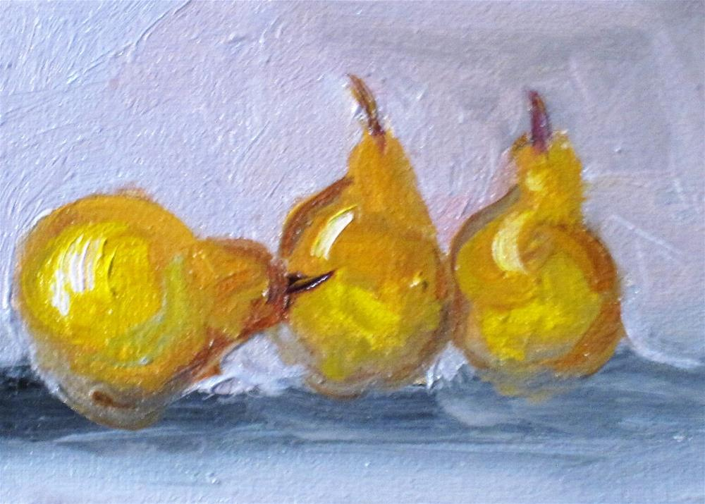 """Pears"" original fine art by Delilah Smith"