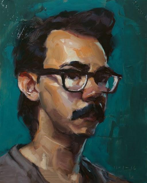 """International Self Portrait Day"" original fine art by John Larriva"