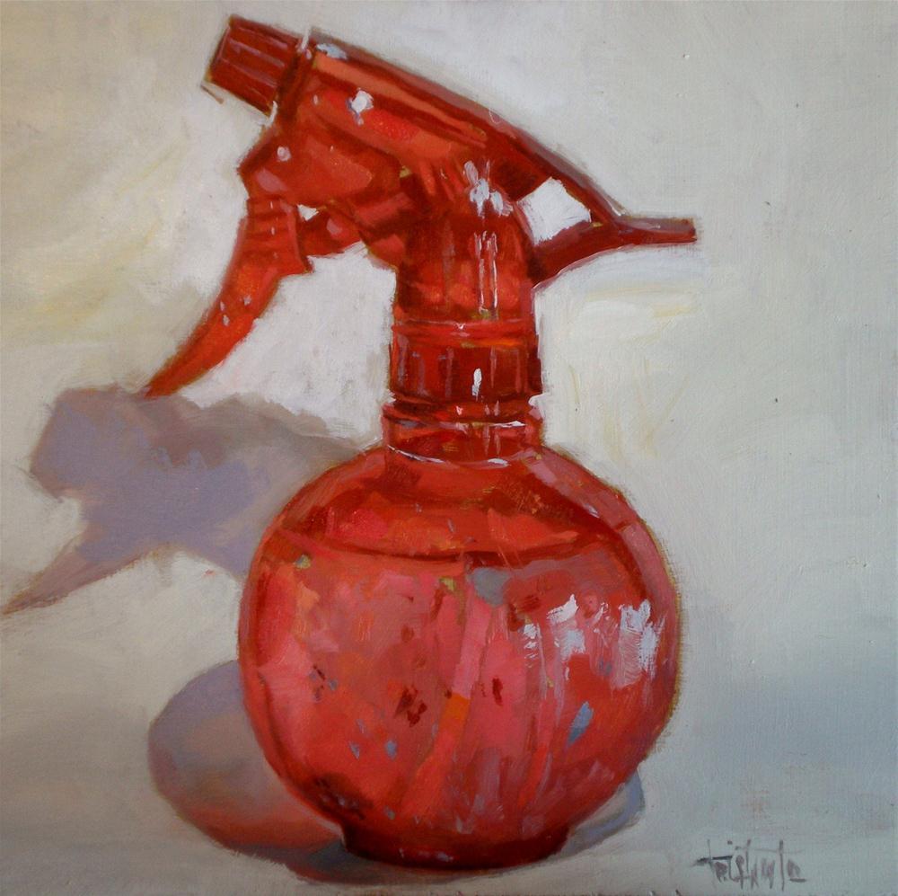 """""""Red spray"""" original fine art by Víctor Tristante"""