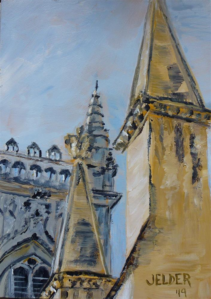 """Westminster Abbey"" original fine art by Judith Elder"