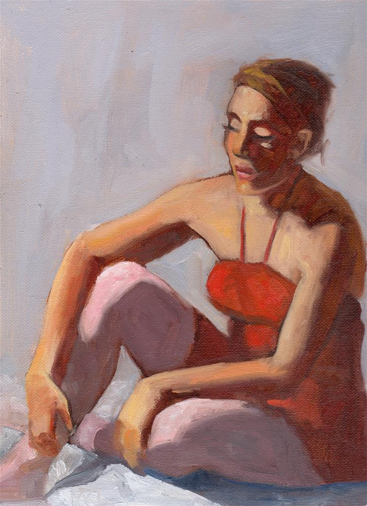 """Ballerina in Red"" original fine art by Marlene Lee"