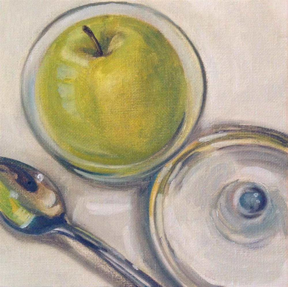 """Apple In Glass"" original fine art by Beth Moreau"
