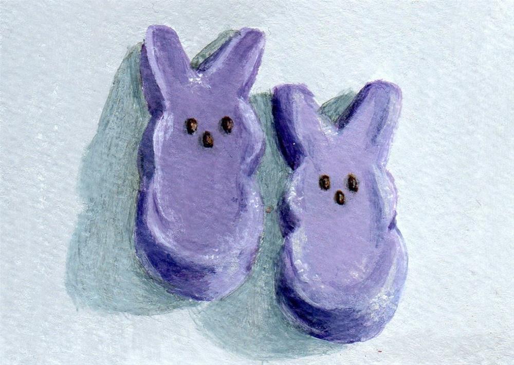 """Purple Pair"" original fine art by Debbie Shirley"