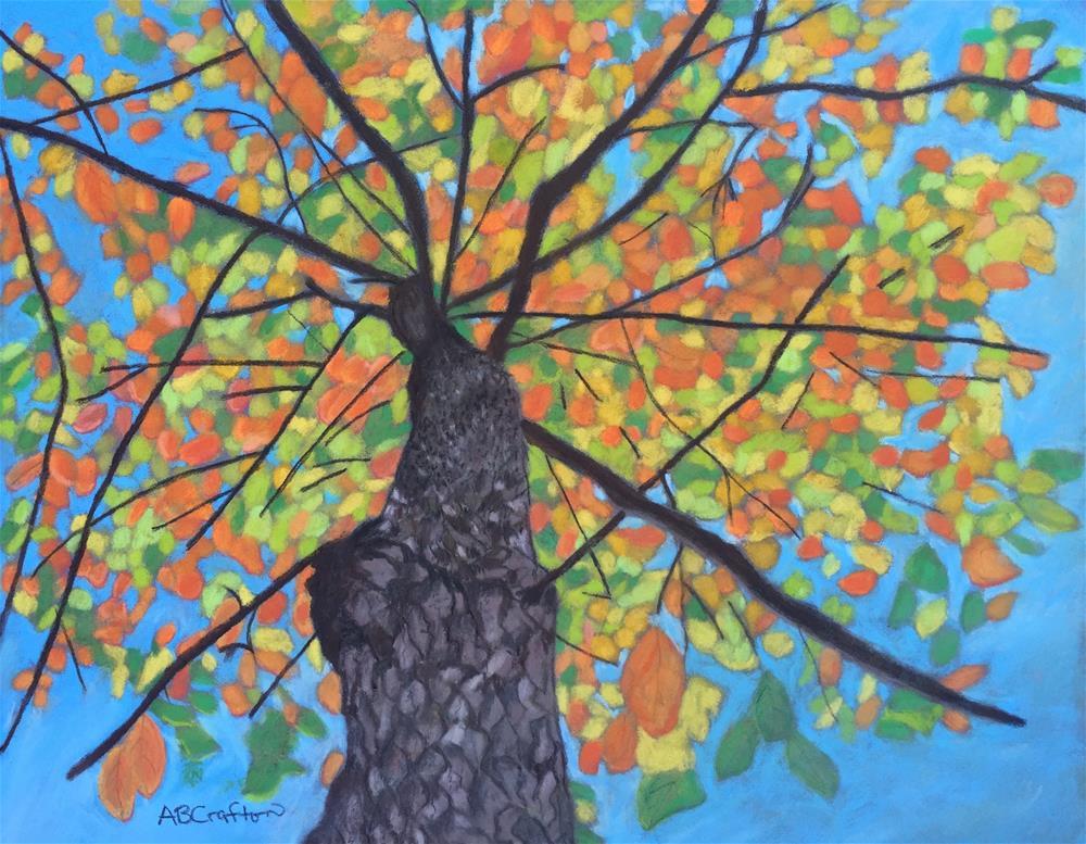 """Fall Up"" original fine art by Arlene Crafton"