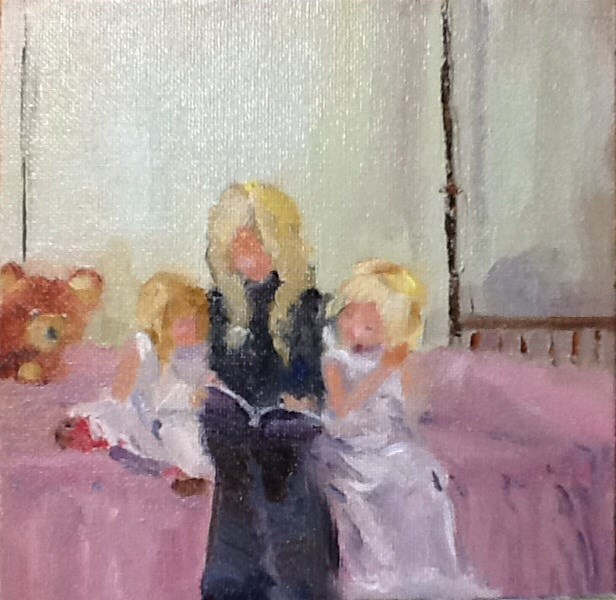 """Bedtime"" original fine art by Peggy Schumm"